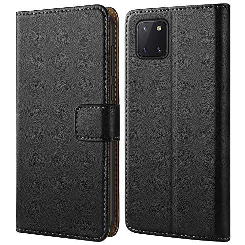 HOOMIL Handyhülle für Samsung Galaxy Note 10 Lite Hülle, Premium Leder Flip Schutzhülle für Samsung Galaxy Note 10 Lite Tasche - Schwarz
