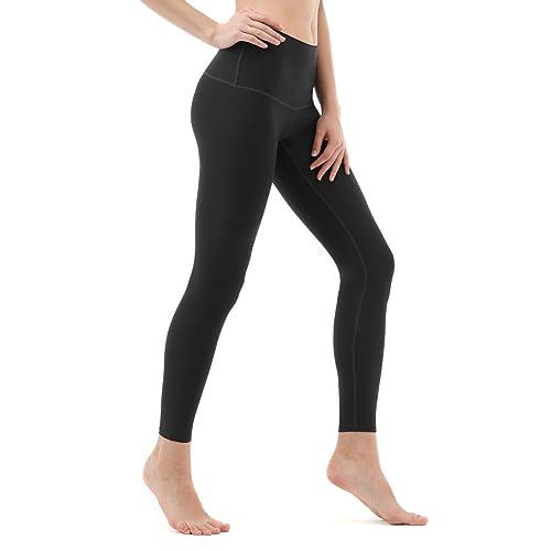 6bee289c48ace6 Tesla CLSL TM-FYP52-BLK_Medium Yoga Pants High-Waist Tummy Control w Hidden