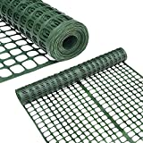 Abba Patio Snow Fence Plastic Garden Fencing Roll Temporary Safety Construction Mesh Fence Outdoor for Gardening, Yard, Patio, Pet, Rabbit, Poultry, 2' X 50' Feet, 1.7