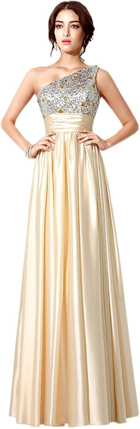 Belle House Women's One Shoulder Prom Dresses Formal Evening Gown HSD188
