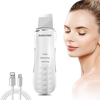 AUKUYEE Dispositivo Ultrasónico de Limpieza de la Piel Facial Derma Skin Scrubber con Función de Importación de Esencias Peeling Facial y Limpiador de Poros y Puntos Negros HG14