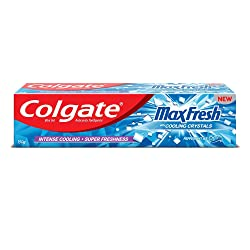 Colgate MaxFresh Toothpaste, Blue Gel Paste with Menthol for Super Fresh Breath, 150g (Peppermint Ic