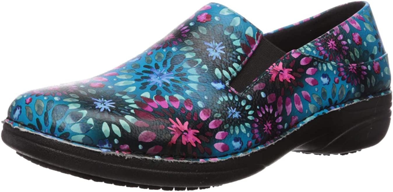 Spring Step Professional Women's Ferrara Avtr Clogs-and-Mules-Shoes, Blue Multi, 7.5