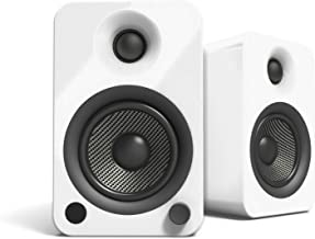Kanto YU4 Powered Speakers with Bluetooth and Phono Preamp, Gloss White