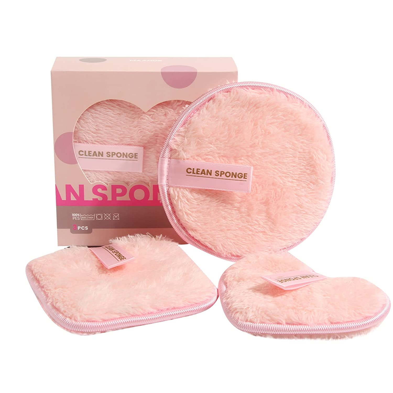 Reusable Courier shipping free shopping Makeup Remover Pads Microfiber Cotton Washable Rounds