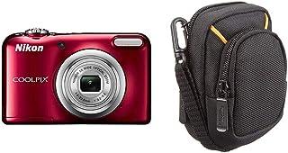 Nikon COOLPIX A10 16.1MP 1/2.3 CCD 4608 x 3456Pixeles Rojo Cámara Digital (Fuegos Artificiales Auto Batería 1/2.3 46-23 mm) + AmazonBasics - Funda para cámaras compactas (tamaño Mediano)