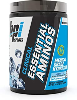 BPI Sports Clinical Essential Aminos – Keto Friendly – Essential Amino Acids (eaas) – Recovery, Muscle Growth, Hydration – Arctic Ice – 30 Servings – 11oz