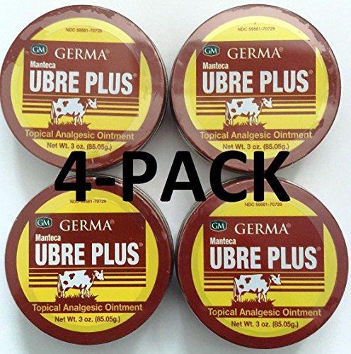 Germa Manteca Ubre Plus Ointment 3 oz. Lata 4-PACK