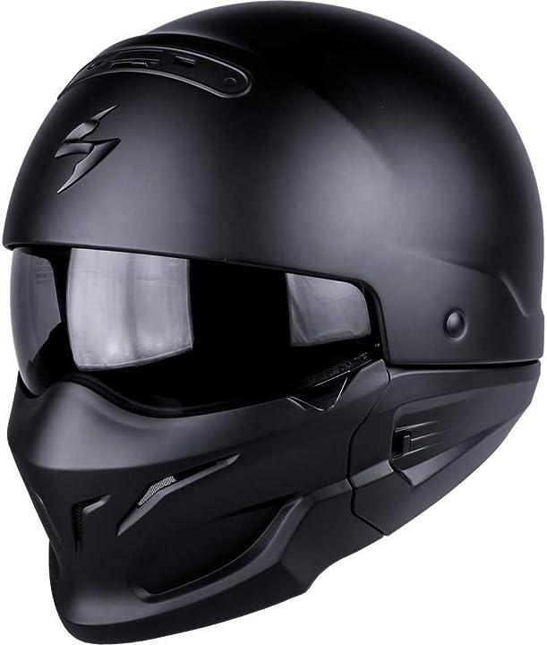 Casco moto scorpion exo-combat, matt black, s 82-100-10-03