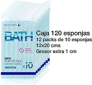 Caja con 120 esponjas jabonosas desechables con grosor extra