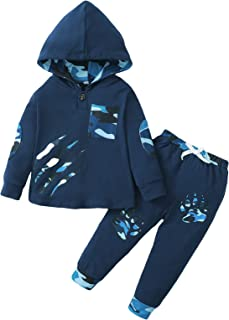 Sponsored Ad - Toddler Baby Boy Hoodie Pants Set Fall Winter 2Pcs Fall Outfits Set 12-24M/2-5T