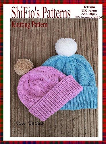 Knitting Pattern - KP382 - ladies & mens beanie ski hat pattern - USA Terminology (English Edition)