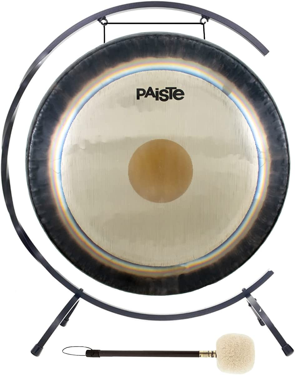 """Amazon.com: Paiste Symphonic Gong on Floor """"C"""" Stand with Mallet Combos:  Musical Instruments"""