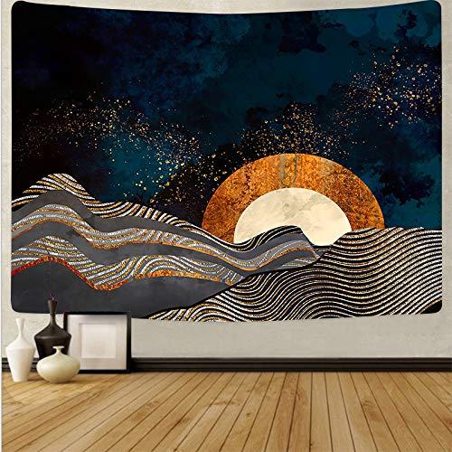 Tapiz de estilo japonés para colgar en la pared, mantel para pared, dormitorio, paisaje, pintura, tapiz, tela de fondo A4, 180x200cm