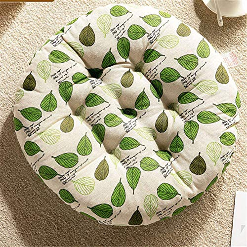 Seat Cushion Thicker Cushion Chair,Premium Padded Chair Cushions Quilted Seat Pads Sofa For Indoor And Outdoor Use Pressure Relief Cushion Great As Officer 2PC chair cushi(Size: 40x40x8cm ,Color:Leaf)