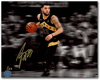 af3e1ff1ef91 Fred VanVleet Toronto Raptors Autographed Black Gold North City 8x10 Photo    23
