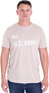 US Army T-Shirt - U.S Military Training Men Shirt with American Flag in Front