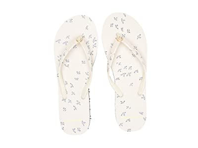 Tory Burch Printed Thin Flip-Flop (Ivory Early Bird) Women
