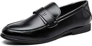 Zapatos casuales Zapatos casuales para hombres, zapatos casuales de negocios clásicos, cuero suave de cuero artificial tac...