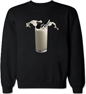 Men's Retro 5 Milk Crew Neck Sweater