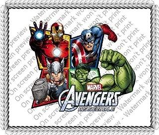 1/4 Sheet ~ Avengers 4 Frame Birthday ~ Edible Image Cake/Cupcake Topper!!!