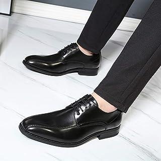 Kirabon Zapatos de Cuero de Caballero Vestido de Caballero Zapatos de Cuero de Hombre Zapatos Casuales de Negocios Zapatos de Cuero de Hombre (Color : Negro, Size : 44)