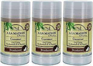 A La Maison Coconut Deodorant 2.4 oz Pack of 3