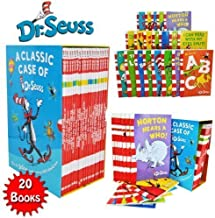 Dr Seuss Classic 20 Books Gift Set (Kids Wonderful World Read at Home Collection) Titles include - The Cat in the Hat, Green Eggs and Ham, Oh The Places you'll Go, One Fish Two Fish Red Fish