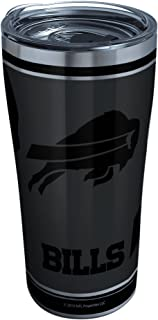 Tervis 1332174 NFL 100-Buffalo Bills Stainless Steel Insulated Tumbler with Clear and Black Hammer Lid, 20 oz, Silver 20 o...