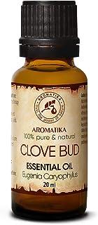 Aceite de Clavo 20ml - Eugenia Caryophyllus - Indonesia - 100% Natural y Puro - Aceite Esencial Clavo para Belleza - Difus...
