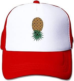 FEAIYEA Upside Down Pineapple Mesh Trucker Caps/Hats Adjustable for Unisex Black