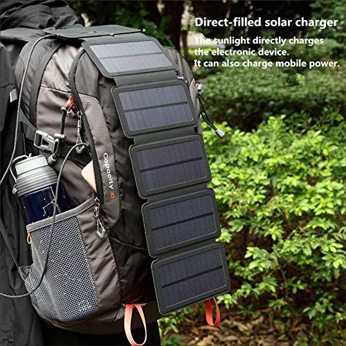 LAMP-XUE 10W Solarmodule Folding Solarzellen-Ladegerät 5V 2.1A USB-Ausgabegeräte Portable Solar Panels für Smartphones, Solar Mobile Power im Freien Wasserdichten,8w