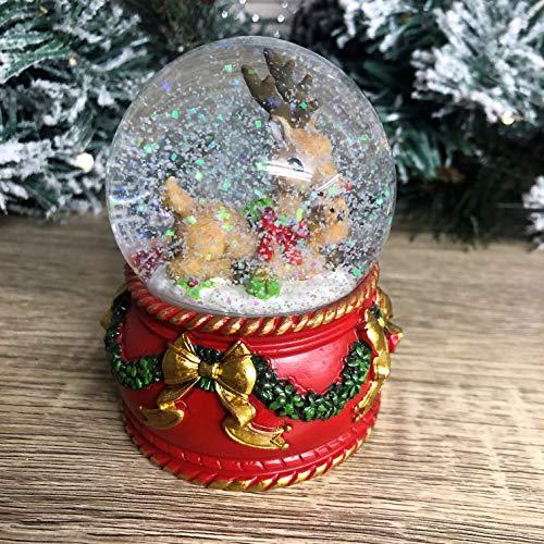 Mezzaluna Gifts Weihnachts-Schneekugel mit Weihnachtsmann oder Rentier