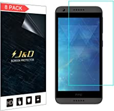 J&D Compatible for 8-Pack HTC Desire 555/Desire 530/Desire 550/Desire 630 Screen Protector, [Not Full Coverage] HD Clear Film Shield Screen Protector for HTC Desire 555 Crystal Clear Screen Protector