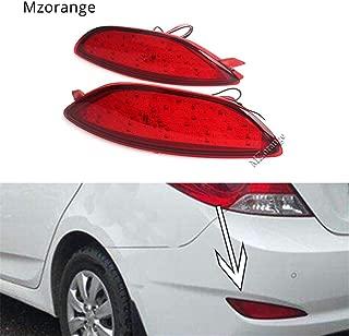 Clidr For Hyundai Accent Verna Brio Solaris 2008-2015 Rear Bumper Reflector Brake Light Red Lens LED Bulb Car Warning Stop Fog Lamp