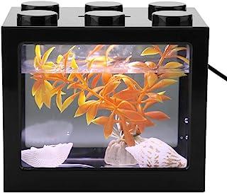 Mini Pesce Carro Armato Piccolo USB Mini Pesci d'acquario Serbatoio Pesce Carro Armato Lampada da Tavolo Decorazioni per T...