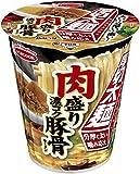 エースコック タテロング厚切太麺肉盛り濃コク豚骨ラーメン 88g×12個