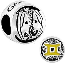 LovelyJewelry Lucky 12 Horoscope Zodiac Sign Symbol Charm Beads