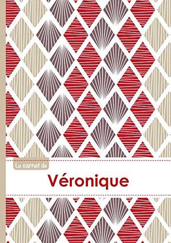 Le carnet de Véronique - Lignes, 96p, A5 - Pétales Japonaises Violette Taupe Rouge (Adulte)