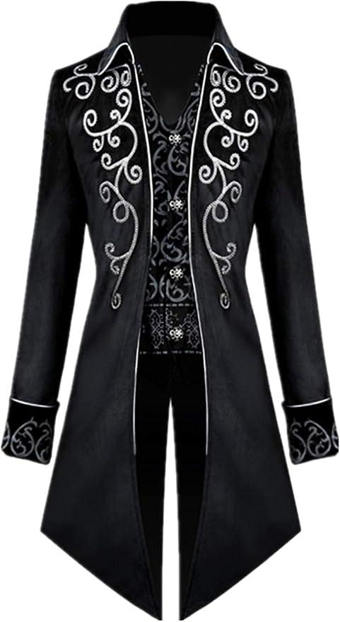 Men's Steampunk Jackets, Coats & Suits Apocrypha Mens Medieval Steampunk Tailcoat Vampire Gothic Jackets Frock Coat  AT vintagedancer.com