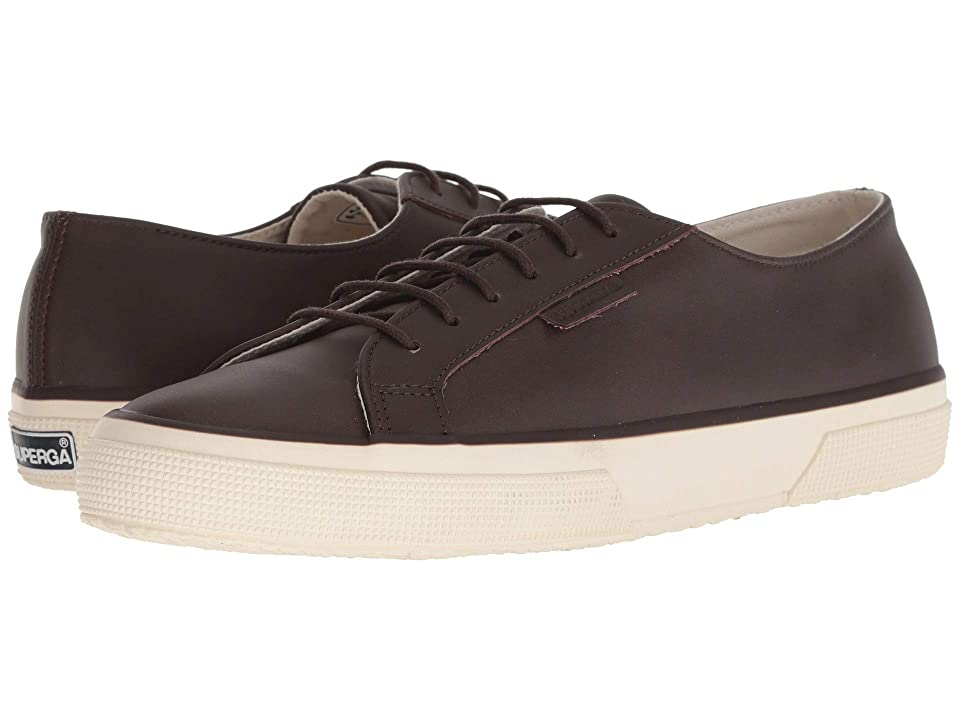 Superga 2750 Fgldyedm (Dark Brown Leather) Men