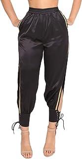 f1b1edf12 Pantalon Mujer Primavera Otoño Pantalones De Cintura Alta Elegantes Moda  Casual Pantalones De Jogging Color Sólido