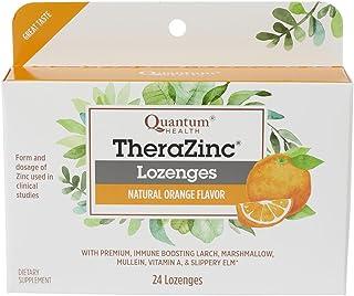 Quantum Health TheraZinc Orange Lozenges, Made with Zinc Gluconate for Immune Support, 24 Count