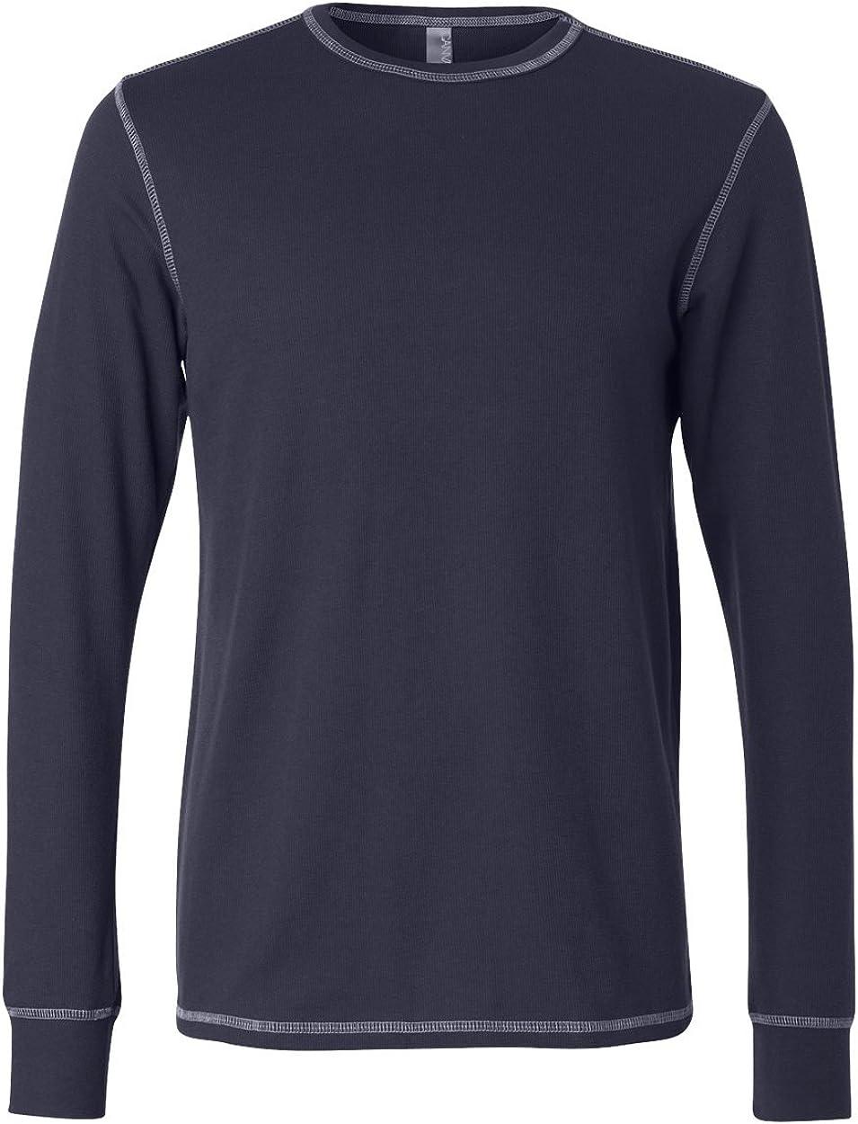 Bella Canvas Mens 4.5 oz. Long-Sleeve Thermal (3500) Navy/Grey s