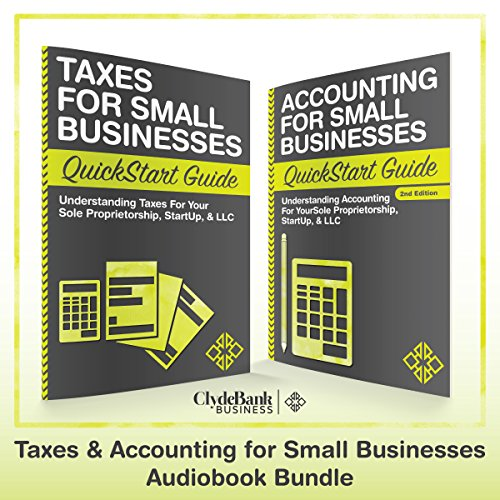 Taxes & Accounting for Small Businesses - QuickStart Guides audiobook cover art