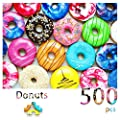 500 Pieces Assorted Donuts Jigsaw Puzzles for Adults and Teens Kids Big Size Large