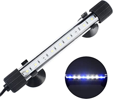NICREW Submersible LED Aquarium Light, Hidden White with Blue LED Light Stick for Fish Tank