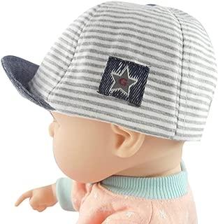 Toddler Baby Girl Boy Cute Letter Striped Soft Eaves Baseball Cap Sun Beret Hat