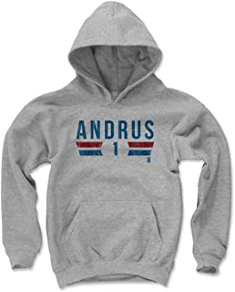 Elvis Andrus Texas Baseball Kids Hoodie - Elvis Andrus Font