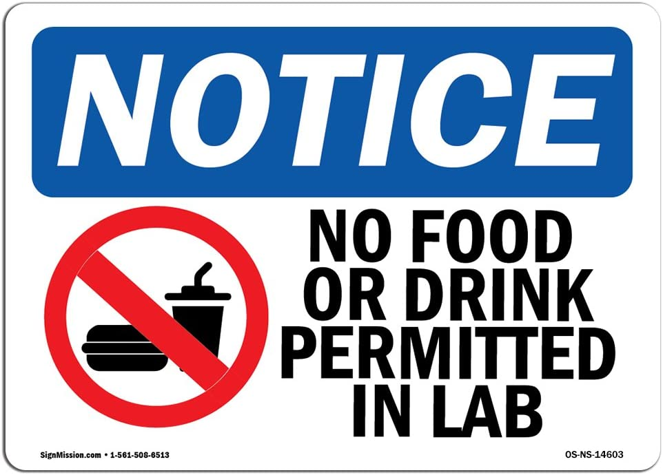 No Drinks Or Food On Pool Table SignHeavy Duty Sign or Label OSHA Notice